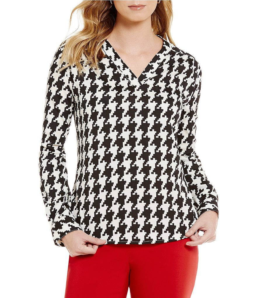 Preston & York Rosabel V-Neck Long Sleeve Blouse