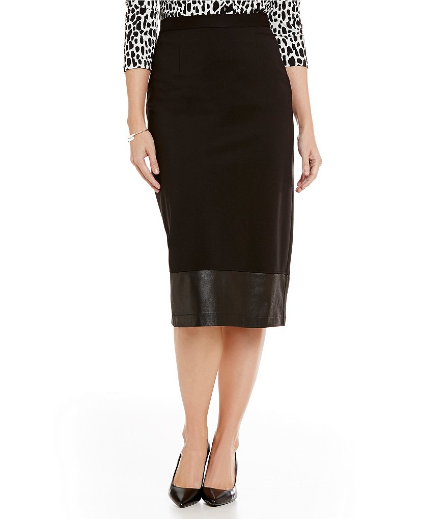 Preston & York Tessa Ponte Pencil Midi Skirt