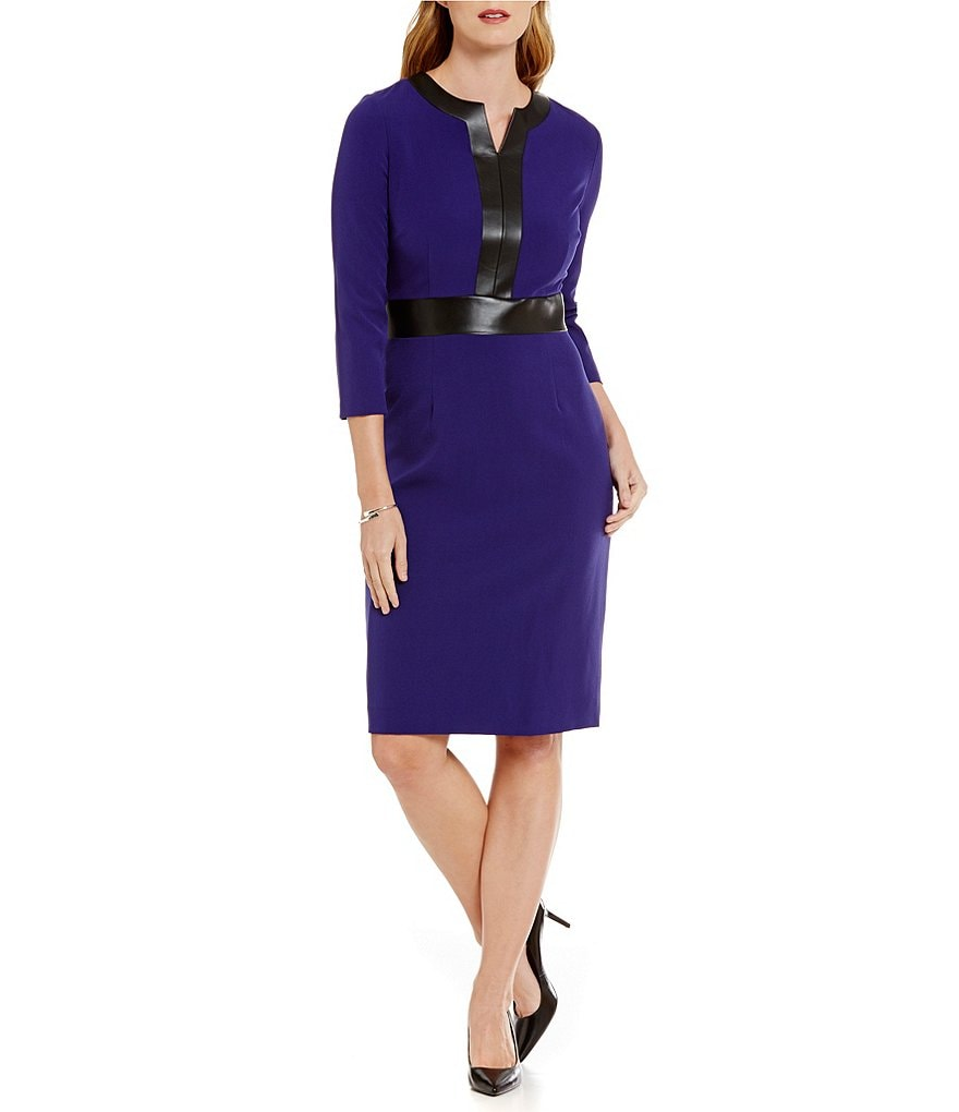 Preston & York Nydia Sheath 3/4 Sleeve Dress