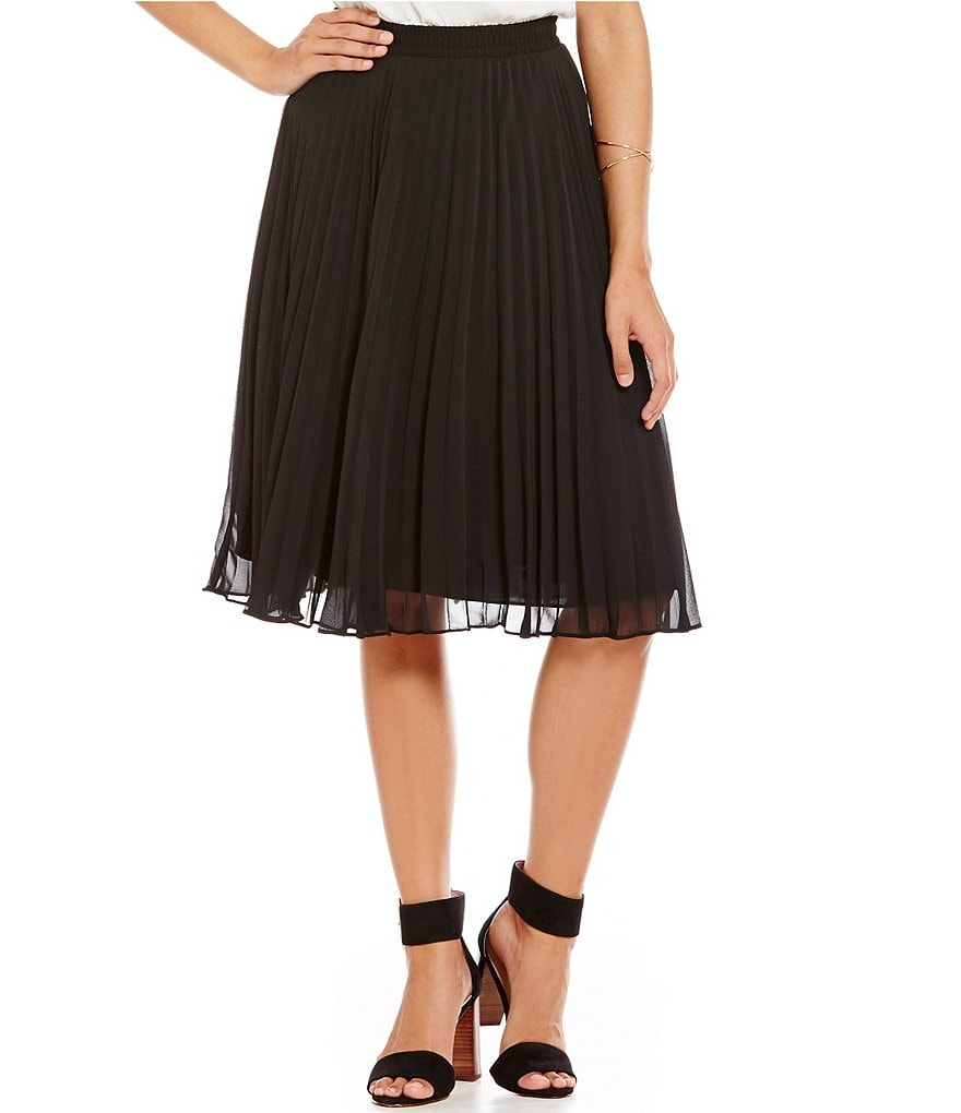 M.S.S.P. Pleated Georgette Midi Skirt