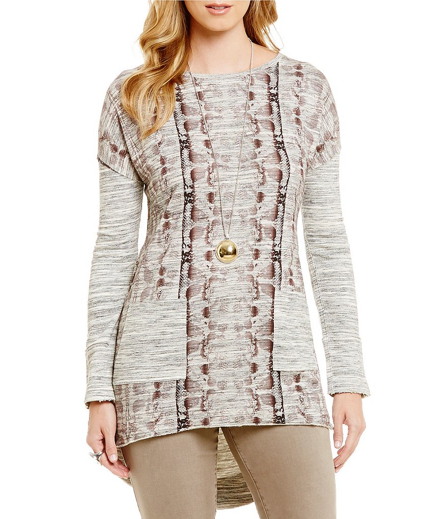 Tru Luxe Jeans Printed Pocket Tunic