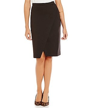 M.S.S.P. Double Knit High Slit Pull-on Pencil Skirt