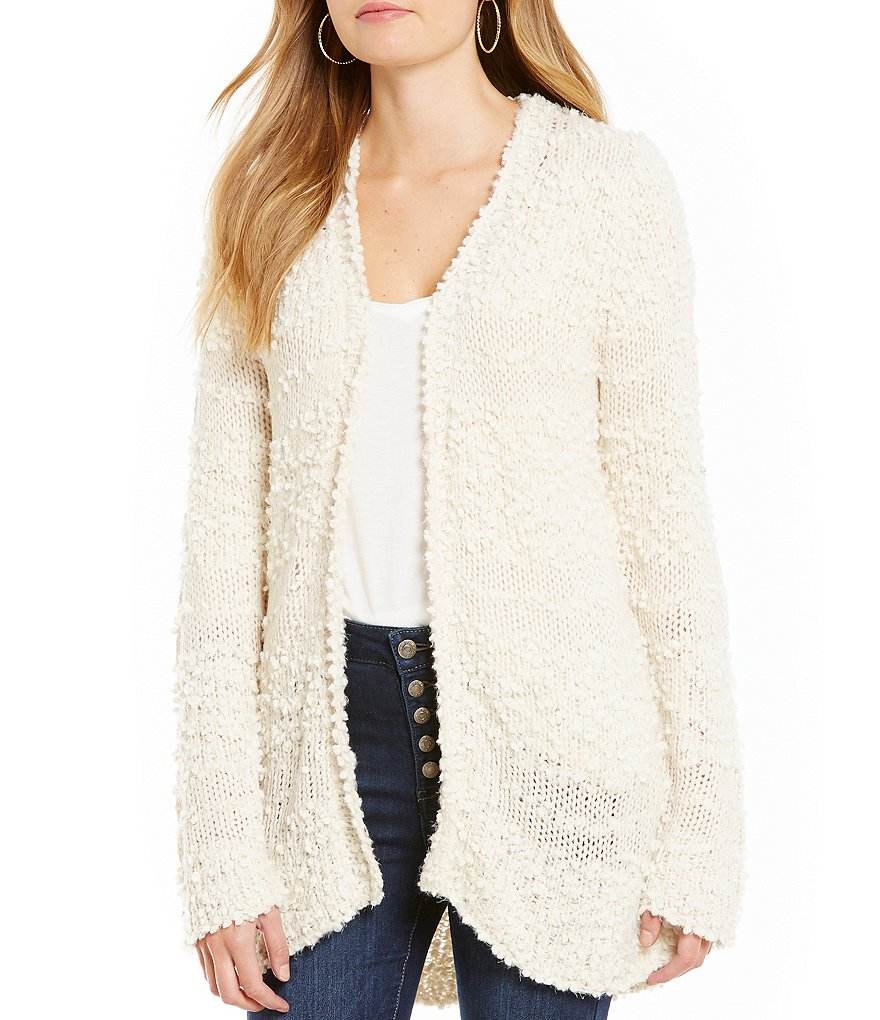 Billabong All For You Textured-Stripe Cozy Cardigan