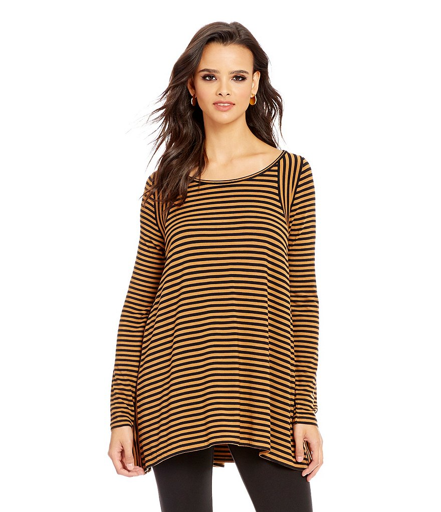 M.S.S.P. Striped Jersey Knit Top
