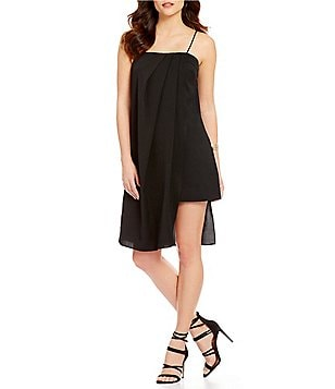 C/MEO Precious Time Crepe Asymmetrical Hem Slip Dress