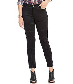 Tru Luxe Jeans Raw Edge Panel Ankle Jeans