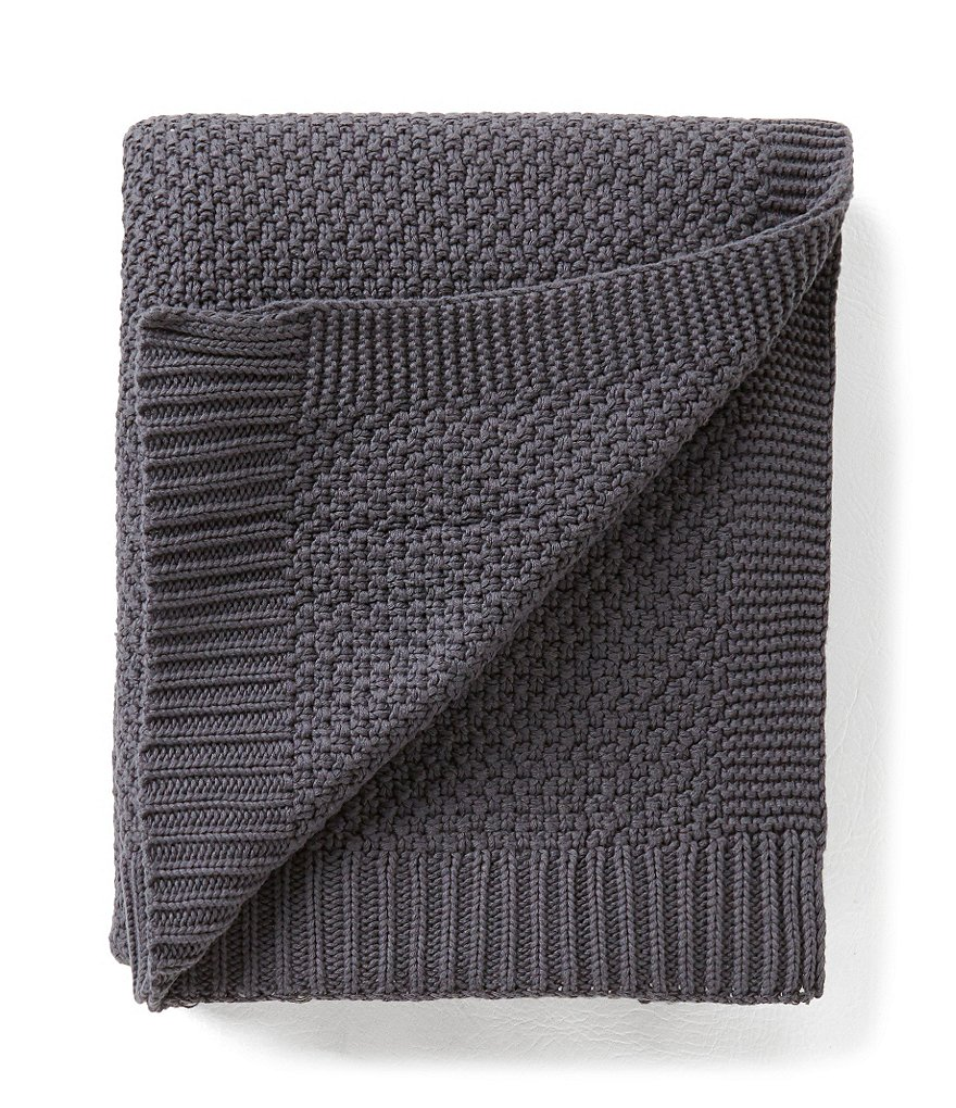 Aman Imports Calvin Cable-Knit Throw