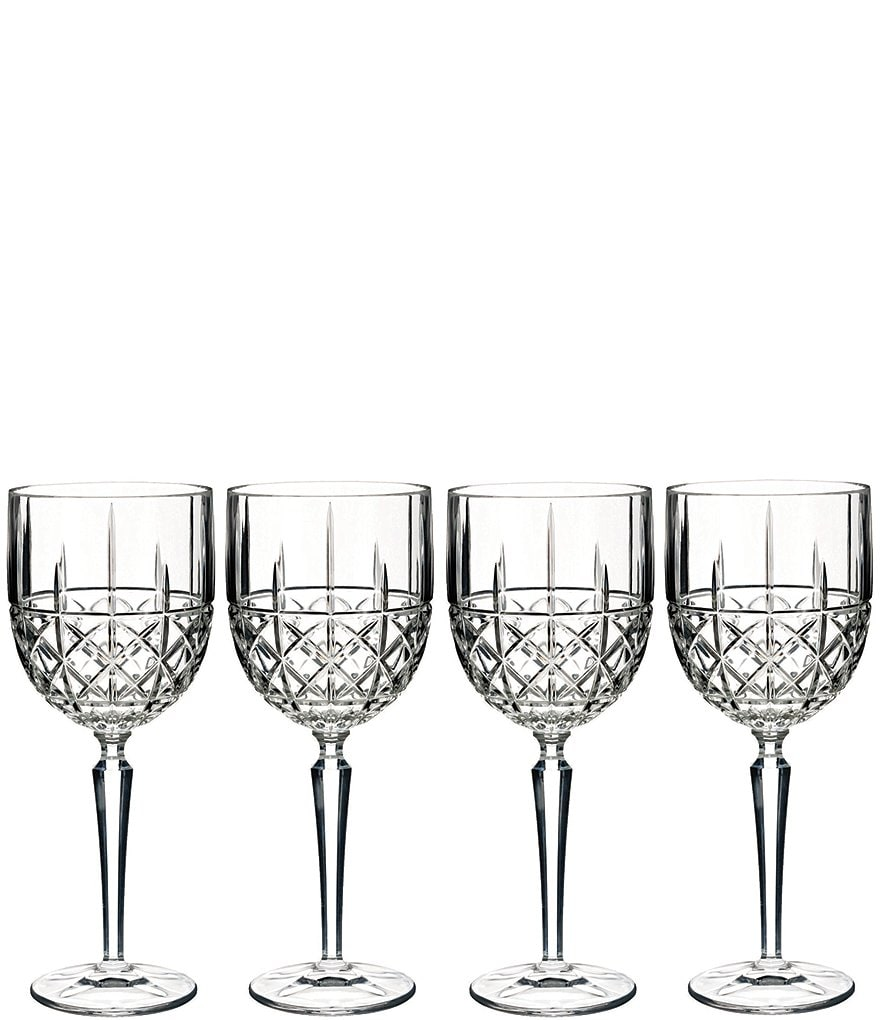 Marquis by Waterford Brady Crystal Goblets, Set of 4