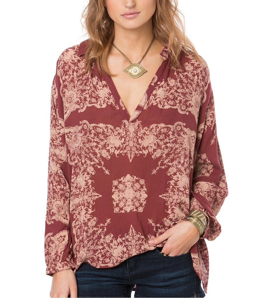O´Neill Bradley Placement-Printed Woven Blouse