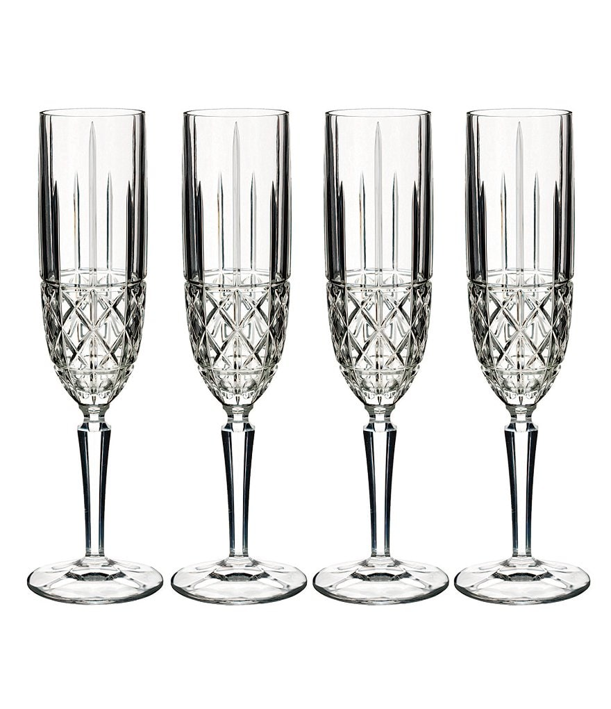 Marquis by Waterford Brady Crystal Flutes, Set of 4
