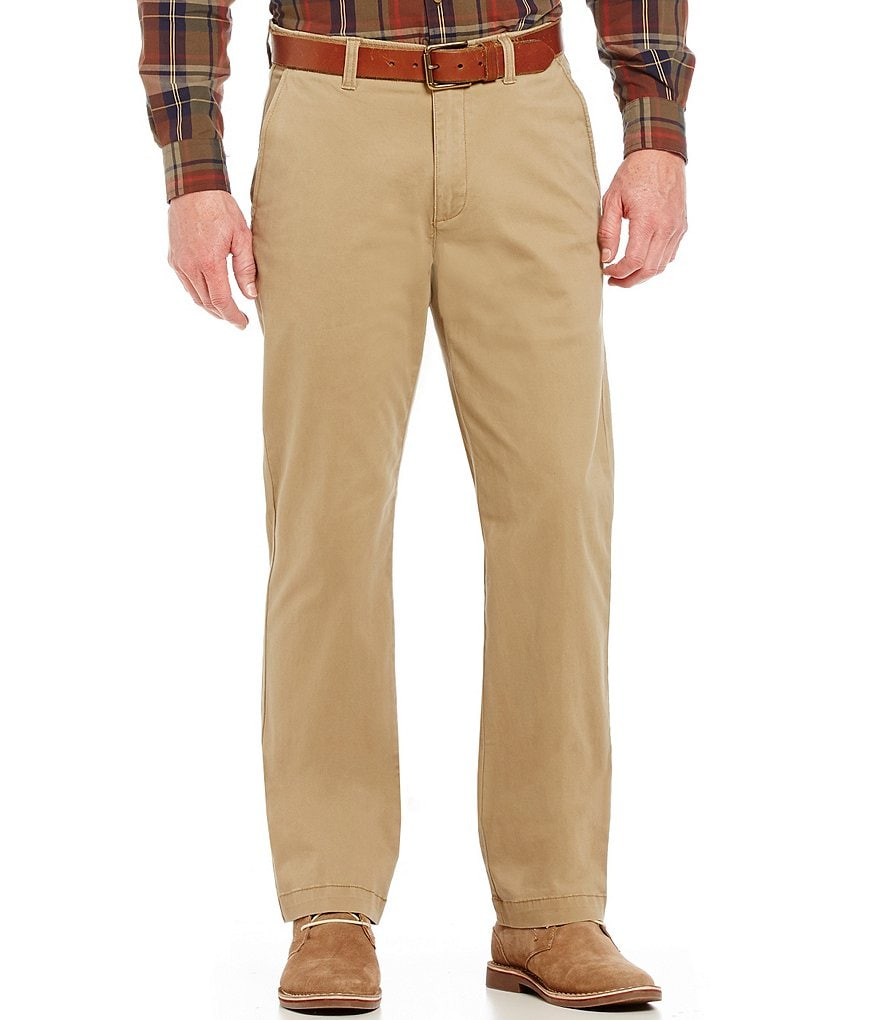 Roundtree & Yorke Big & Tall Straight-Fit Flat-Front Comfort Chino Pants