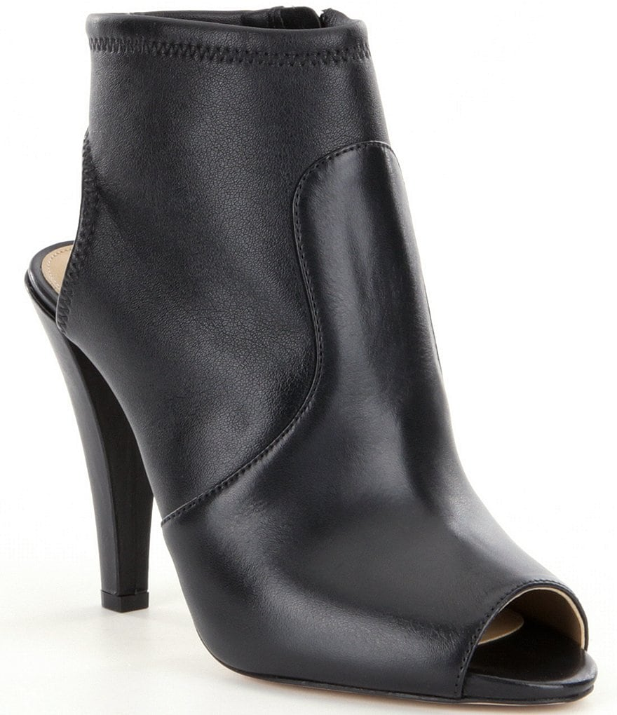 MICHAEL Michael Kors Selina Leather Peep-Toe Booties