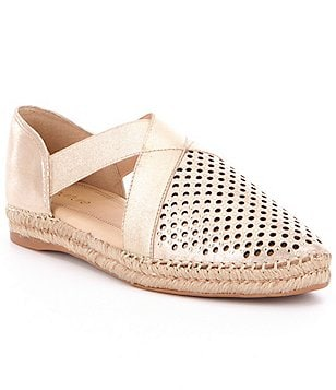 Nurture Cantrell Perforated Leather Slip-On Espadrilles