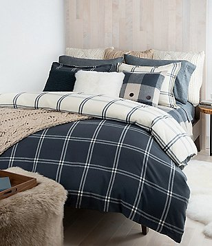 UGG® Flannel Luxe Windowpane Reversible Duvet