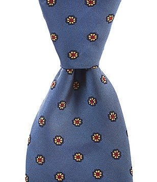 Brooks Brothers Spaced Floral Traditional Silk Tie