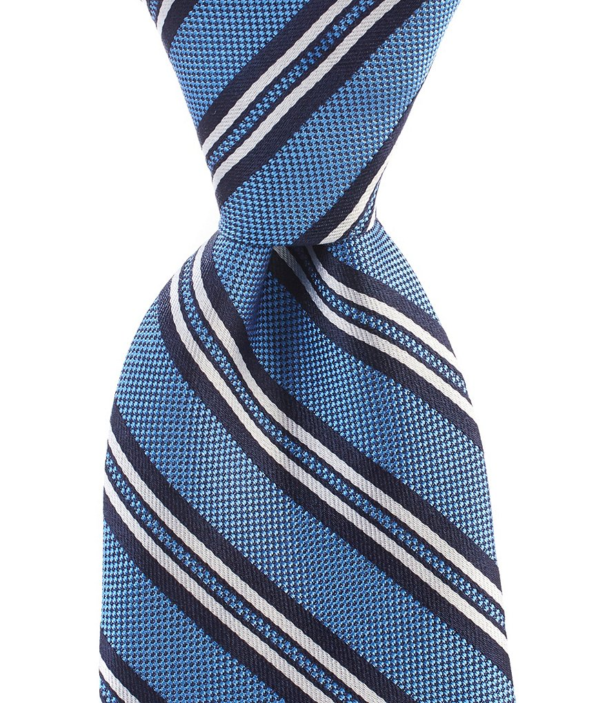 Brooks Brothers Natte Double Stripe Traditional Silk Tie