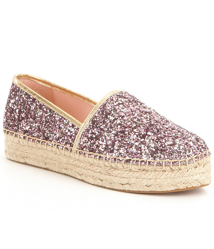 kate spade new york Linds Too Glitter Slip-On Espadrilles