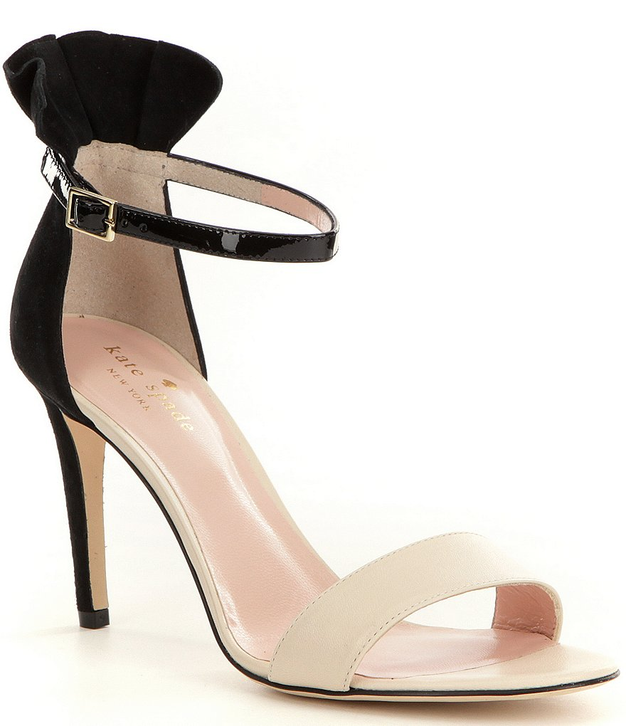 kate spade new york Iris Ankle Strap Leather & Suede Dress Sandals