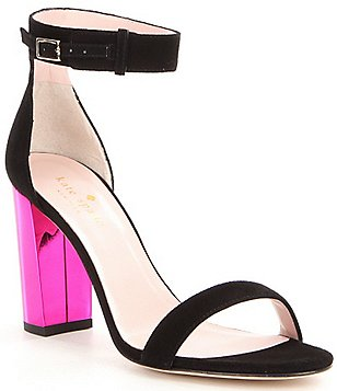 kate spade new york Ilona Too Color Block Buckle Closure Dress Sandals