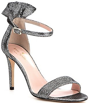 kate spade new york Iris Cracked Metallic Leather Dress Sandals