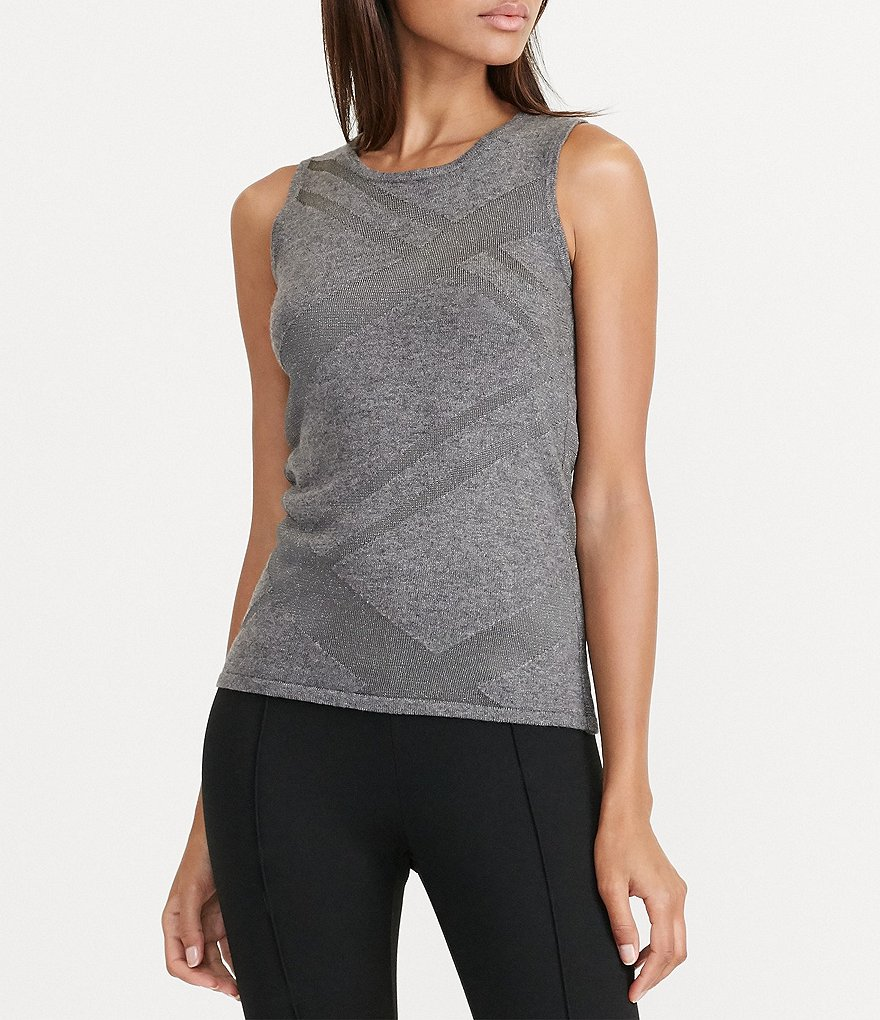 Lauren Ralph Lauren Crew Neck Sleeveless Sweater