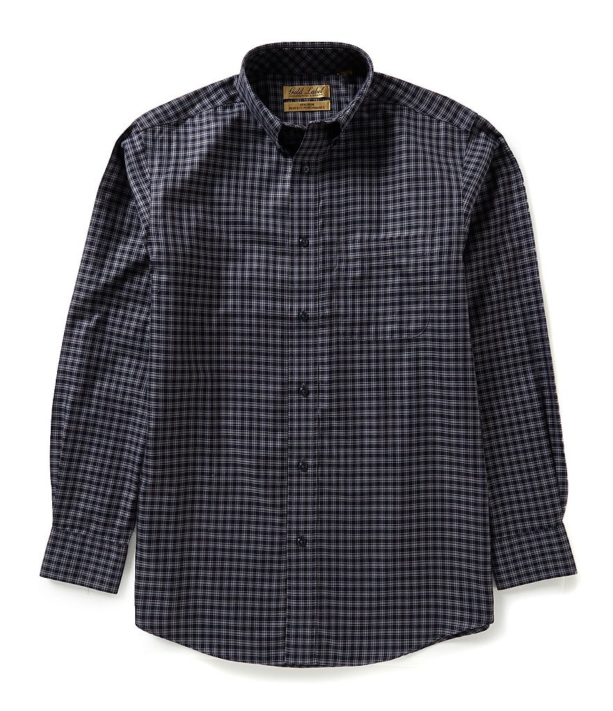 Gold Label Roundtree & Yorke Big & Tall Non-Iron Check Sportshirt