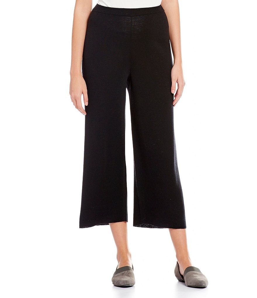 Eileen Fisher Straight Leg Cropped Pant