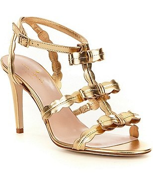 kate spade new york Ilene Metallic Bow Banded Dress Sandals