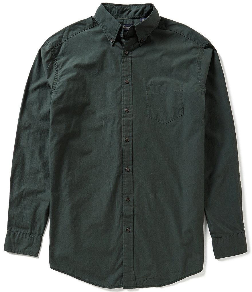 Roundtree & Yorke Casuals Big & Tall Solid Sportshirt