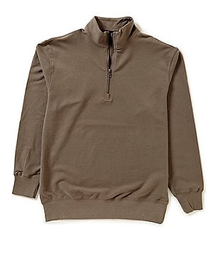 Roundtree & Yorke Trademark Big & Tall Long Sleeve 1/4 Zip Pullover