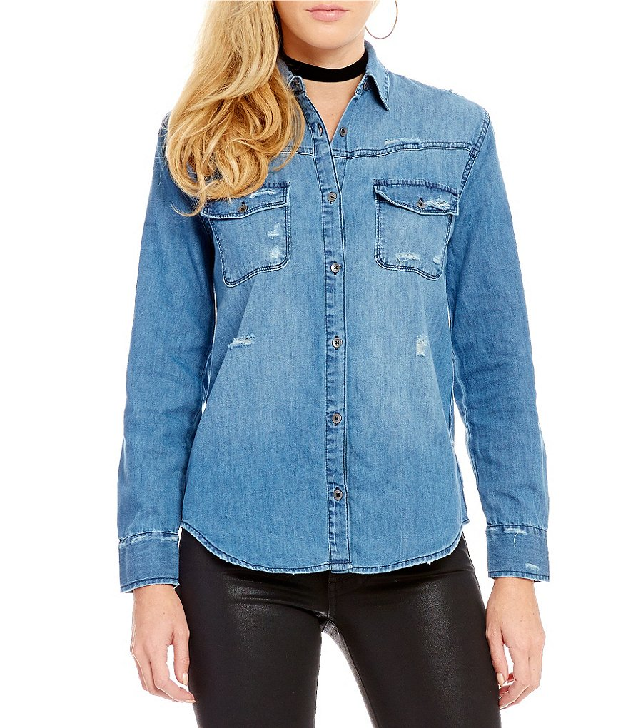 Joe´s Jeans Melani Destructed Denim Top