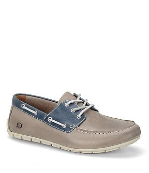 Men´s Born Bernhard Leather Lace-Up Moc Toe Casual Shoes