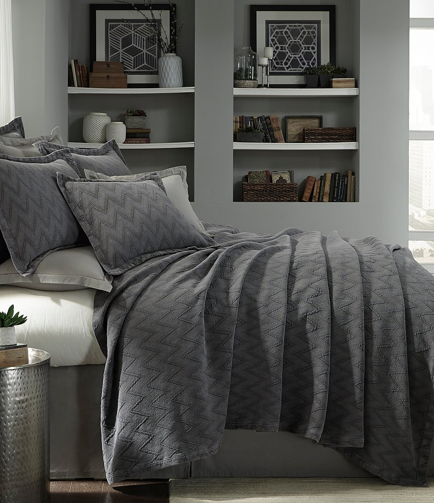 Moderne by Noble Excellence Lawton Herringbone Matelassé Coverlet