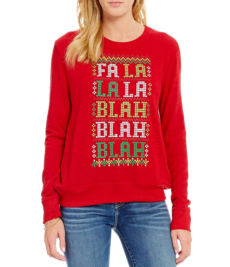 Love On A Hanger Holiday Fa La La Blah Christmas Graphic Sweatshirt