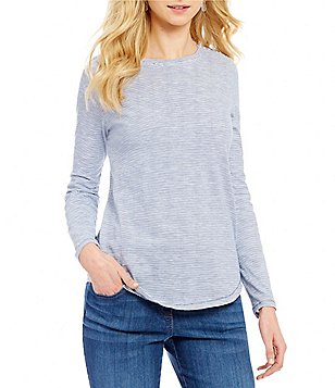 Westbound Stripe Long Sleeve Crew Neck Top