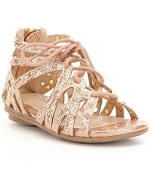 Kenneth Cole Reaction Girl´s Bright Metallic Leather Caged Lace Up Sandals
