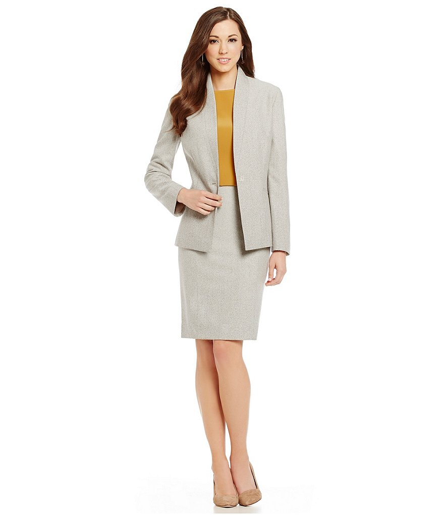 Antonio Melani Rola Ombre Herringbone Jacket & Barel Pencil Skirt