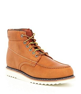 Wolverine Men's Leather Textile Lined Lace-Up Moc Toe Boots