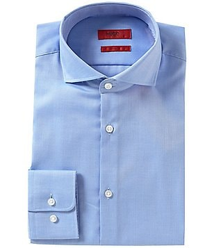 HUGO Hugo Boss Sharp Slim-Fit Spread Collar C-Meli Wrinkle-Resistant Dress Shirt