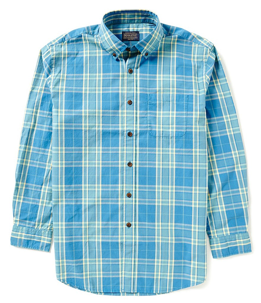 Pendleton Surf Plaid Button-Down Collar Shirt