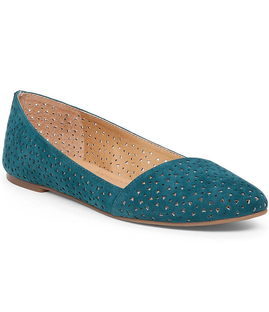 Lucky Brand Archh2 Perforated Leather Asymmetrical Slip-On Flats