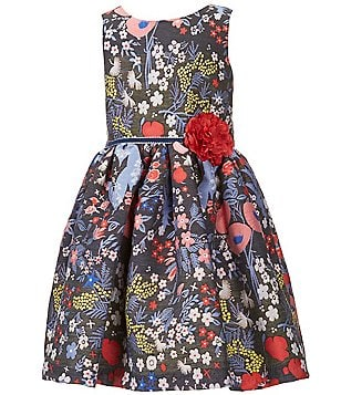 Pippa & Julie Little Girls 2T-6X Floral-Print Dress