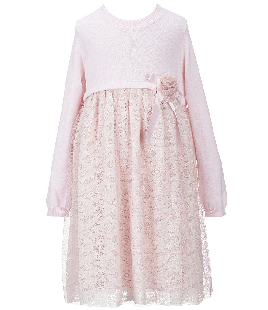 Bonnie Jean Little Girls 2T-4T Knit Lace Dress