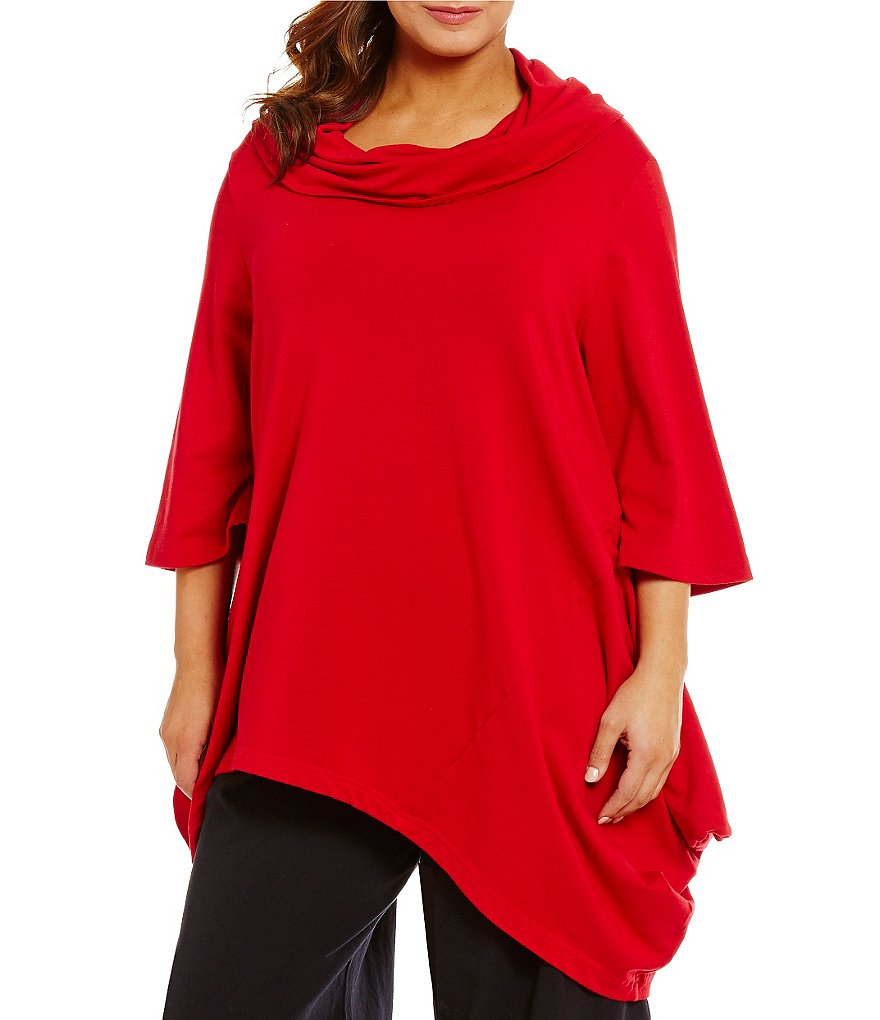 Bryn Walker Plus Noma French Terry Cowl Neck Tunic