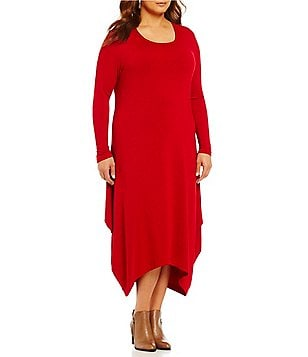 Bryn Walker Plus Long Sleeve Pointed Hem Chelsea Dress