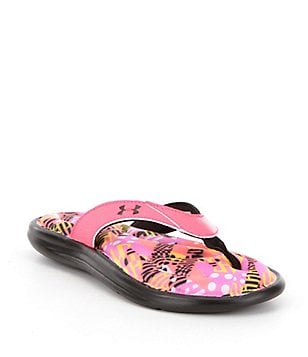 Under Armour Marbella Girl´s Floral Thong Slip-On Sandals