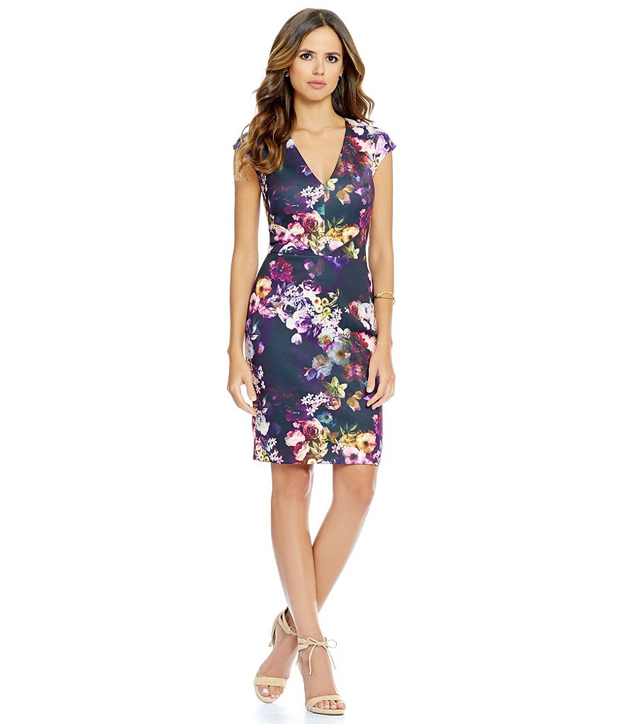 Gianni Bini Yolanda Floral Print Scuba Sheath Dress