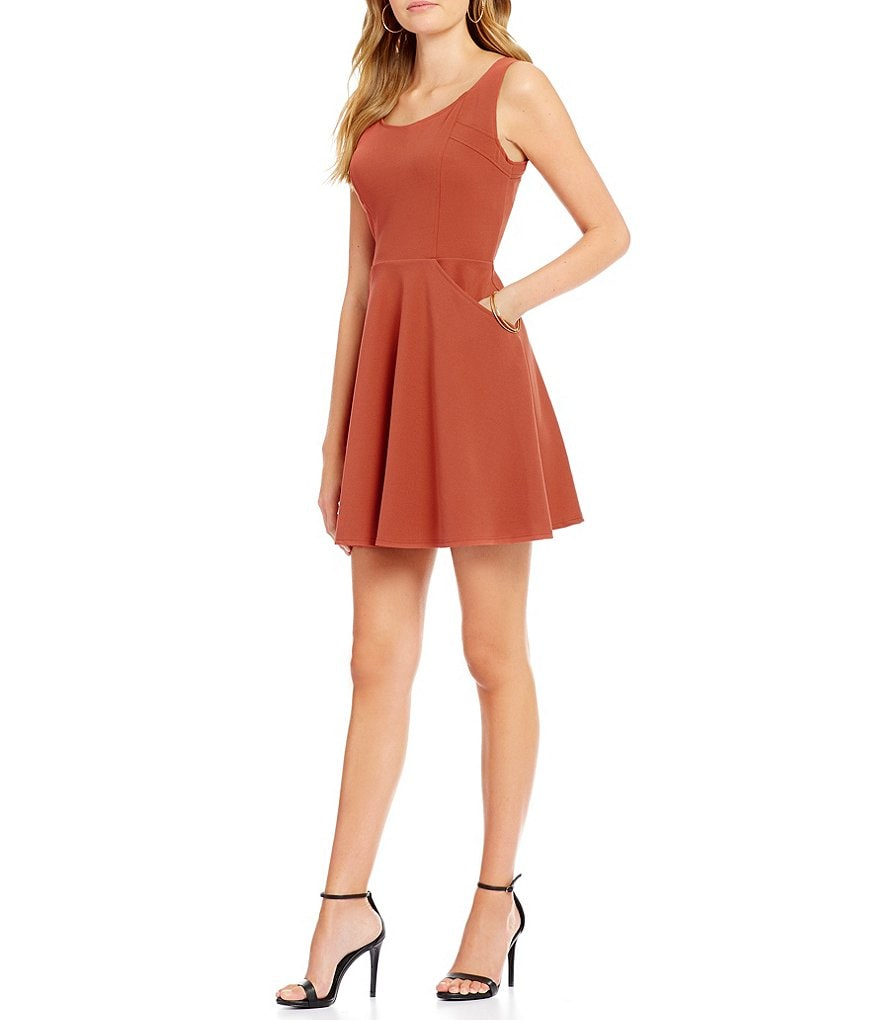 Teeze Me Cut-Out Back Skater Dress