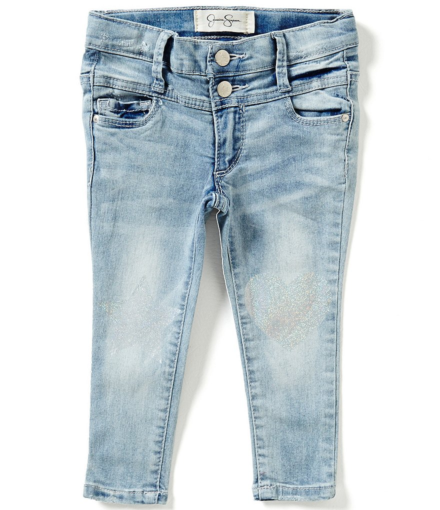 Jessica Simpson Little Girls 2T-6X Hart High-Rise Patched Skinny Jeans