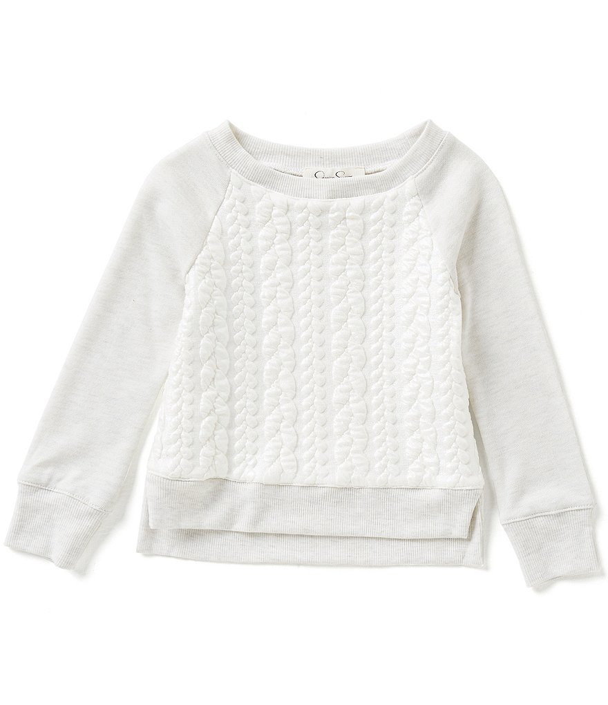 Jessica Simpson Little Girls 2T-6X Stellar Pearl Sweater